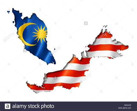 malaysia vector map malaysian flag map stock photo royalty free image