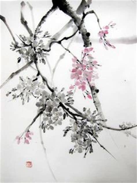 tattoo rice paper magnolia and sparrow suibokuga japanese ink painting sumi