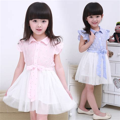 Korean Style Flower Dress korean fashion flower dresses for children s clothes mesh dress style summer 2015