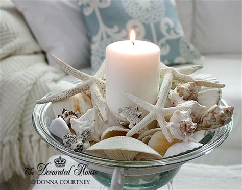 summer decorating bringing the home with shells
