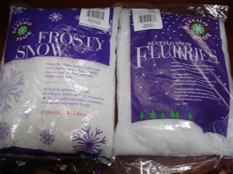 two unopen bags of artificial snow great for x mas
