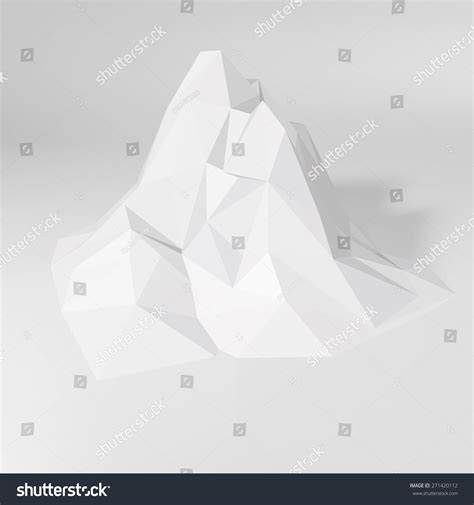 White Low Poly white lowpoly geometric 3d mountain landscape stock vector