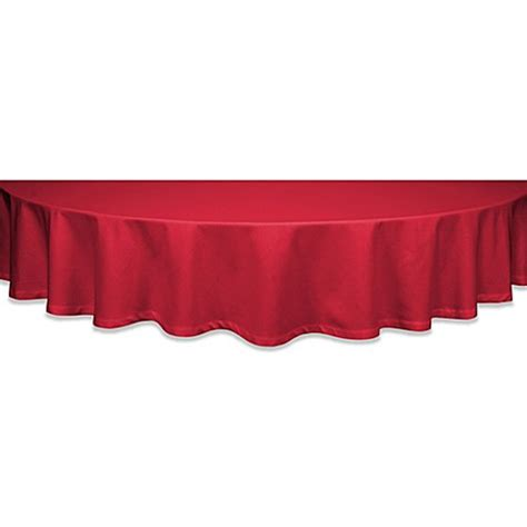 buy classique 60 inch round tablecloth in red from bed bath beyond