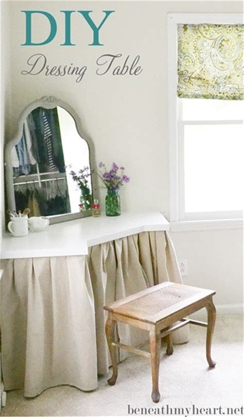 Corner Vanity Desk by Diy Dressing Table Beneath My