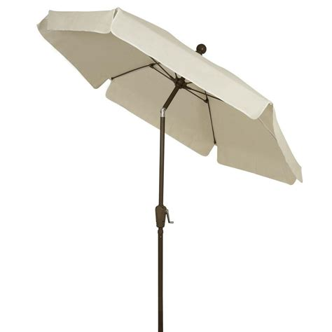 White Patio Umbrellas Fiberbuilt Umbrellas 7 5 Ft Patio Umbrella In White 7gcrcb T Nt The Home Depot