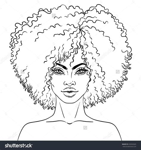 american coloring book american pretty vector illustration of black