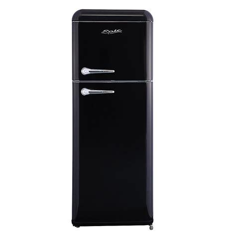 epic  cu ft retro refrigerator  black  home