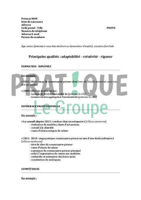Modèle Cv Débutant by Resume Format Mod 232 Le Curriculum Vitae Gratuit 233 Tudiant