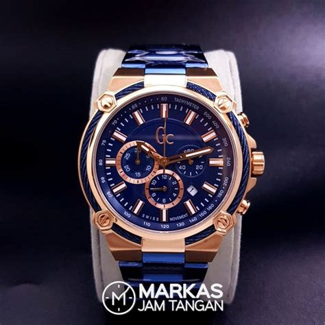 jam tangan pria gc cable force chronograph stainless steel