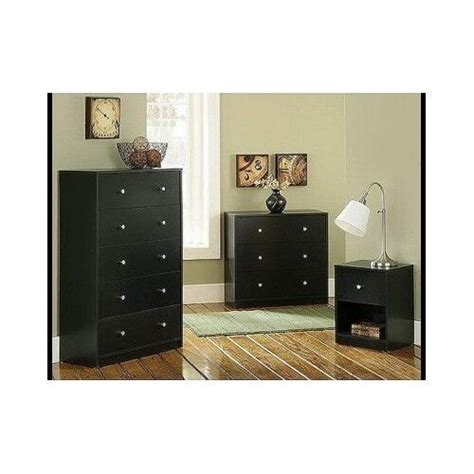 contemporary bedroom furniture set  piece black dresser