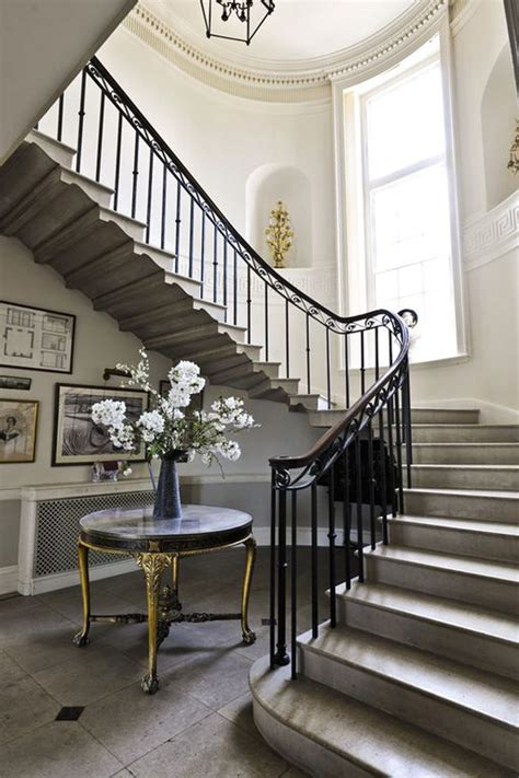 foyer staircase georgian country house sussex home foyers stairs
