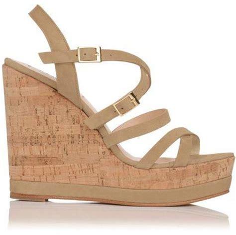 Sandal Wedges Lk Putih lk nahoon strappy laqured cork wedge shoes in
