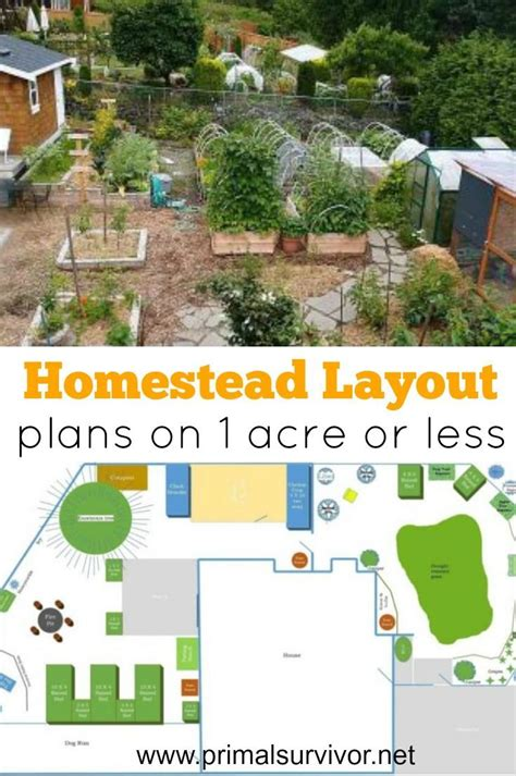 layout land homestead layout plans on 1 acre or less homestead