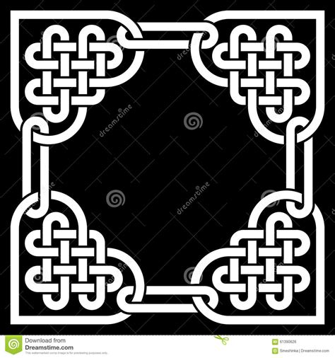 cornici celtiche black and white celtic knot frame made of shaped
