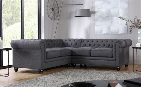 chesterfield corner sofas hton slate fabric chesterfield corner sofa only 163 1 099