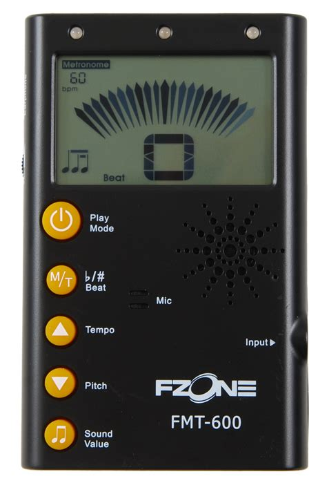 Metronome Tuner Fzone fzone fmt 600bk tuner metronome black