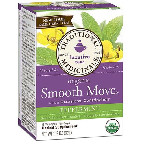 Detox Tea Smooth Move by Traditional Medicinals Smooth Move Tea Peppermint 16