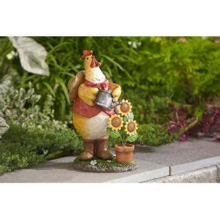 Kmart Lawn And Garden by Essential Garden Rooster With Watering Can Outdoor