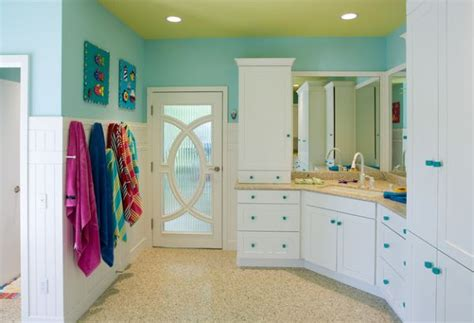Kids Bathroom Color Ideas | select patterns and colors give this eclectic kids