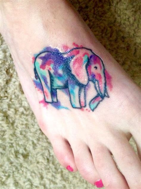 my beautiful watercolor elephant tattoo by jeff morris