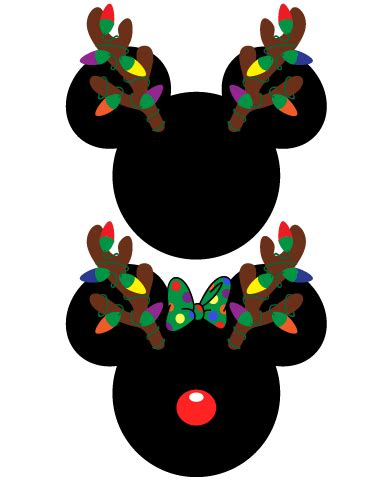 instant  mickey  minnie mouse christmas antlers