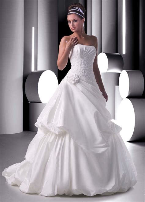 Bridal Dresses - ruched wedding gown styles