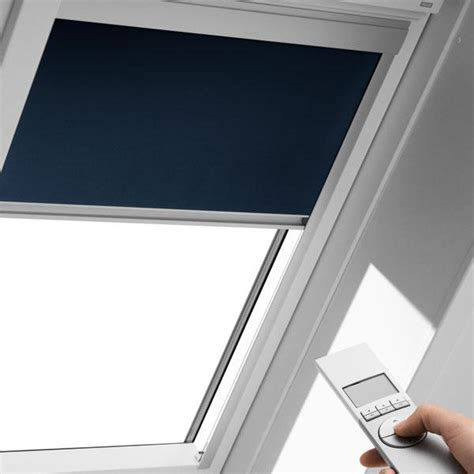 Blackout Shades For Windows Decorating Buy Velux Remote Electric Blackout Blinds Dml Velux Dml Fashion Interiors
