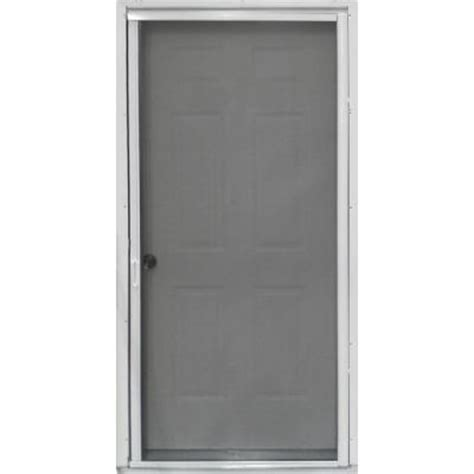 Home Depot Door Screens by Pr900 36 In X 81 In White Retractable Screen Door