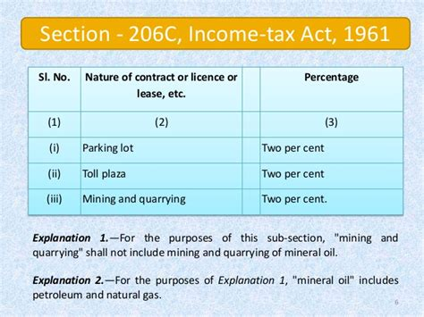 section 7 of the income tax act faq s analysis of provision of section 206 on cash sale
