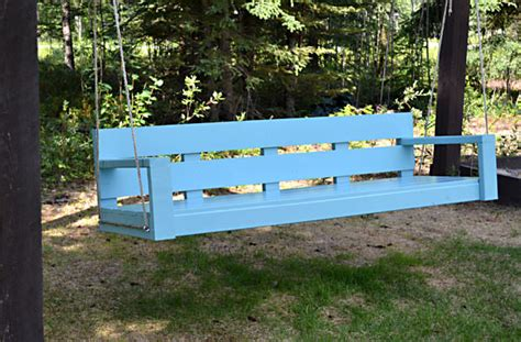 wooden swing bench plans hanging swing bench plans diywoodplans