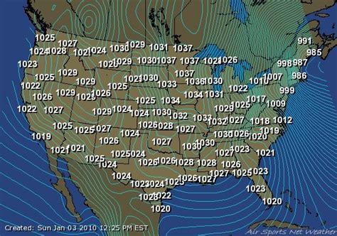 barometric pressure map barometric pressure map map3