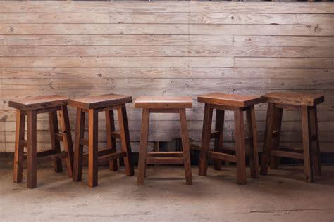 Repurposed Wood Bar Stools by Reclaimed Wood Bar Stools Reclaimed Wood Farm Table