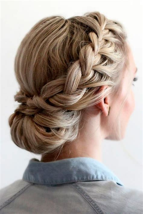 formal hairstyles messy bun with braid 42 braided prom hair updos to finish your fab look prom