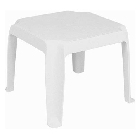 Compamia Isp240 Whi Sunray Resin Square Side Table White White Resin Patio Table