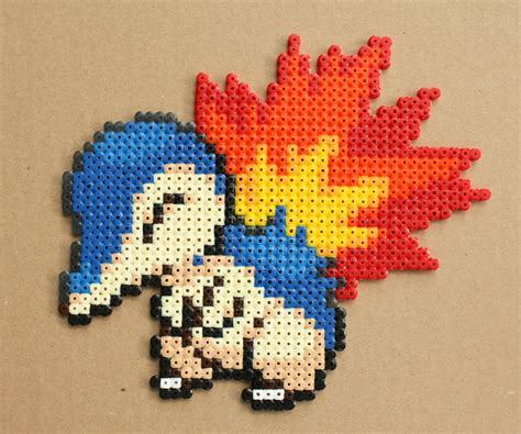 where can you get perler cyndaquil hama perler bead sprite