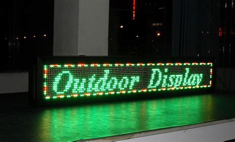 Lighted Signs Outdoor Semi Outdoor Tri Color Led Sign Programmable Signs Every