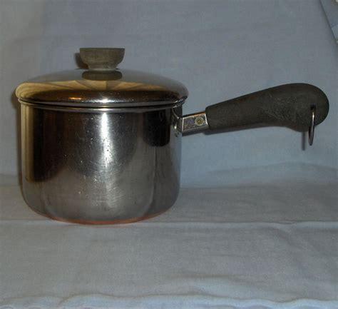 revere 2qt stainless steel copper bottom saucepan