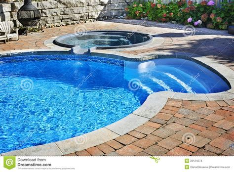 swimming pool with tub stock images image 22124574