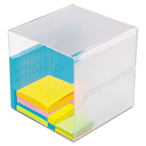 Plastic Office Desk Deflecto 350401 Desk Cube Clear Plastic 6 X 6 X 6 Def350401 Zumaoffice