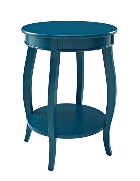 Powell Kitchen Islands by Round Shelf Table Teal 287 350 Decor South