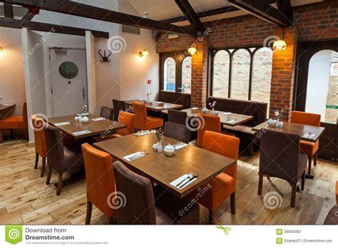 orange interior restaurant interior stock photo image 56905982