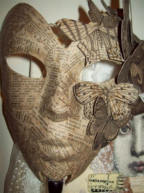Mask With Paper - 25 best ideas about paper mache mask on