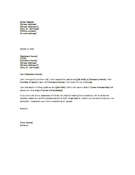 Letter For Work Request Announcing Your Search Letter Template Professional Letters Templates