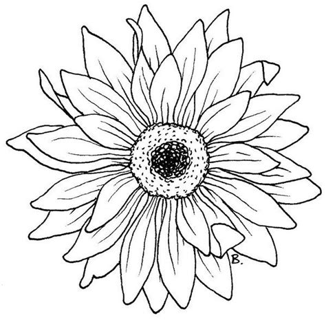 printable sunflower template beccy s place sunflower gerbera coloring pages