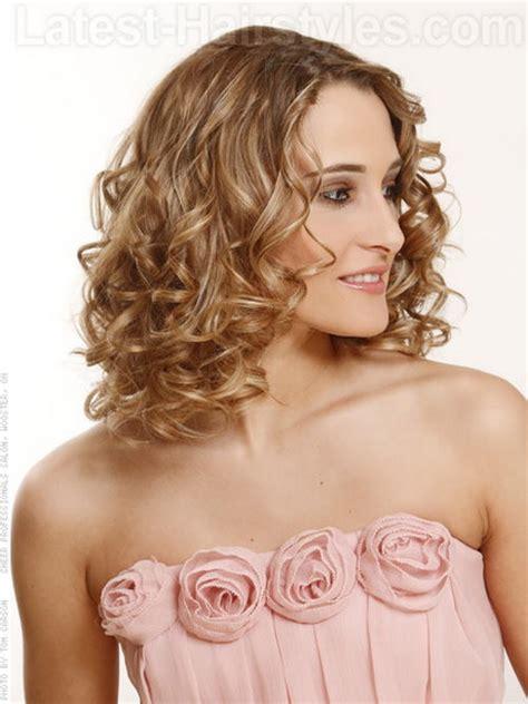 hairstyles curls medium length hair medium length curly hairstyles with bangs