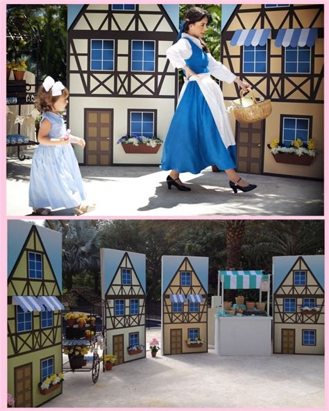 beauty and the beast village set pin by toisie whimsical creations on children s party