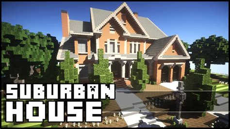 minecraft suburban house tutorial minecraft beautiful suburban house youtube