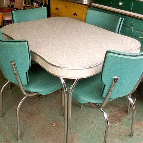 1950s Formica Kitchen Table And Chairs by Vintage 1950s Formica And Chrome Table Ours Had A Leaf
