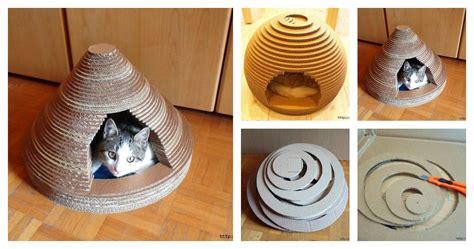 cardboard  cats house