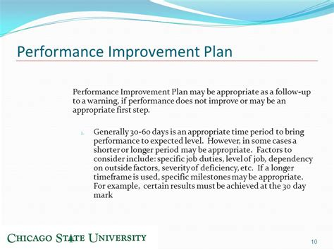 30 day performance improvement plan template image